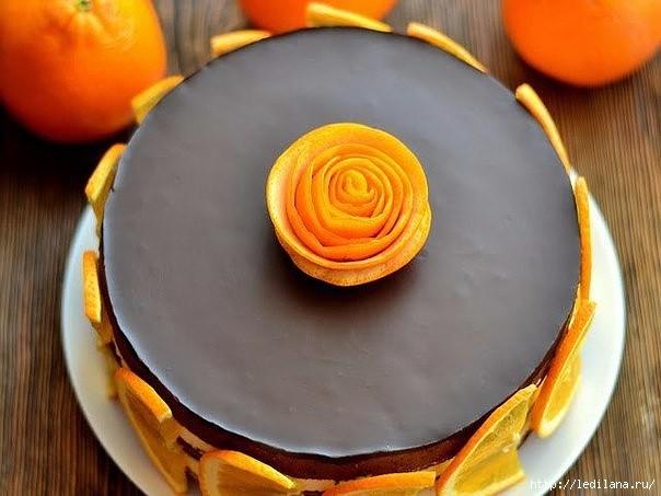 Шоколадно-апельсиновый торт Солнечный