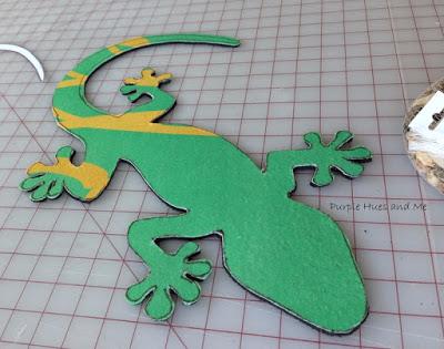 Ящерка из гальки - украшение handmade для сада (6) (400x315, 129Kb)