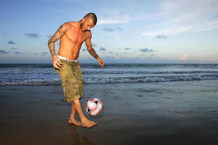Дэвид Бекхэм. Фотосессия на бразильском пляже