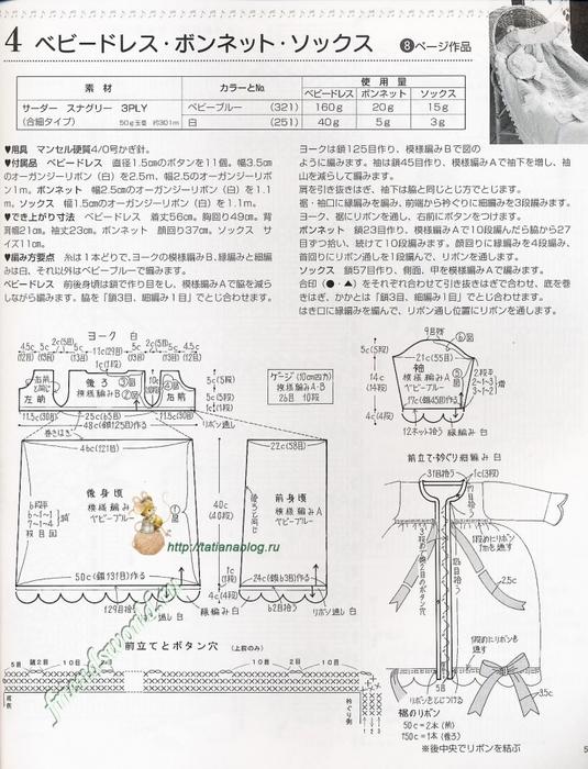 распашонка, чепчик и пинетки связанные крючком со схемами вязания/3071837_032 (535x700, 265Kb)