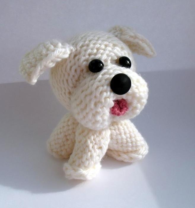 Собака своими руками вязанная