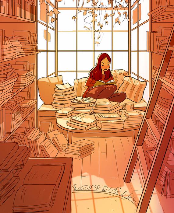 3 Убегать от реальности в мир книг (571x700, 604Kb)