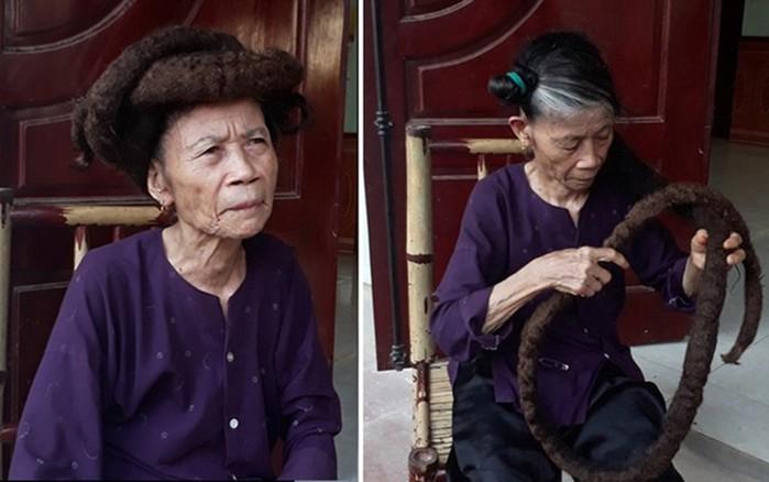 81-летняя дама из Вьетнама отрастила волосы до 3 метров