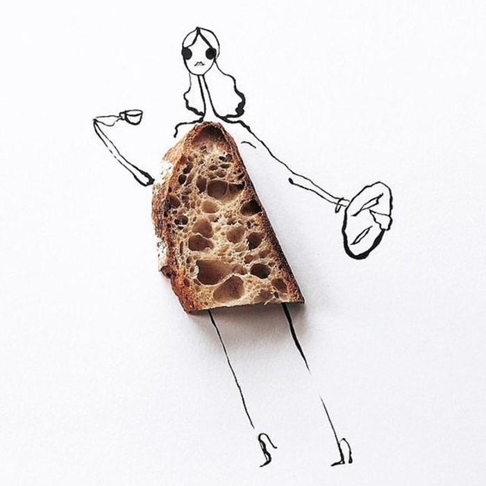 Фото еды. Рисунки одежды из продуктов от Гретхен Рёхрс