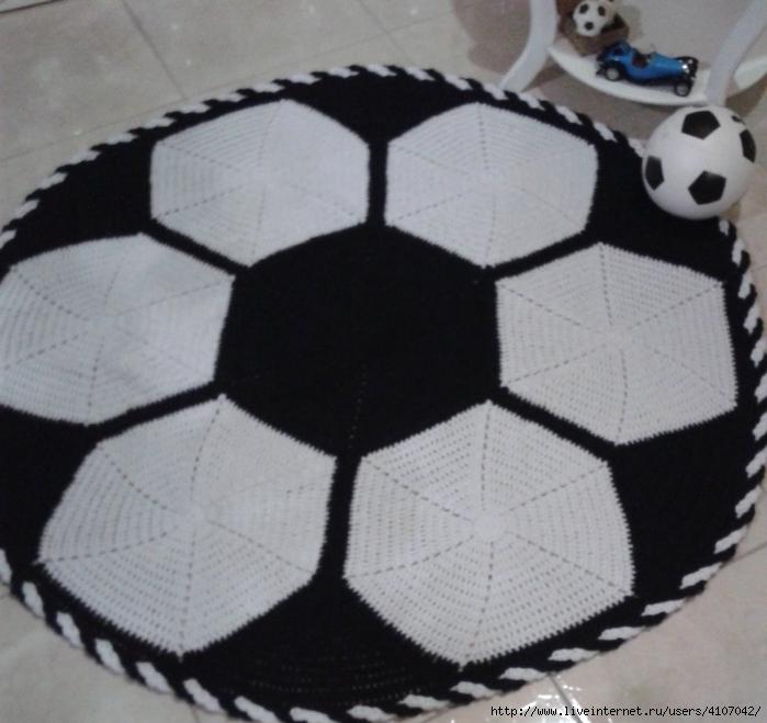 Коврик футбольный мяч своими руками 96