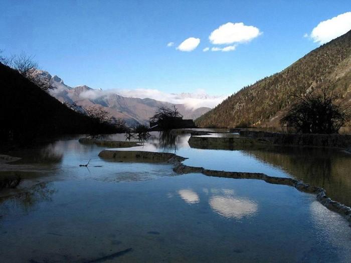 Китайская долина Мониго на высоте 3500 м над уровнем моря