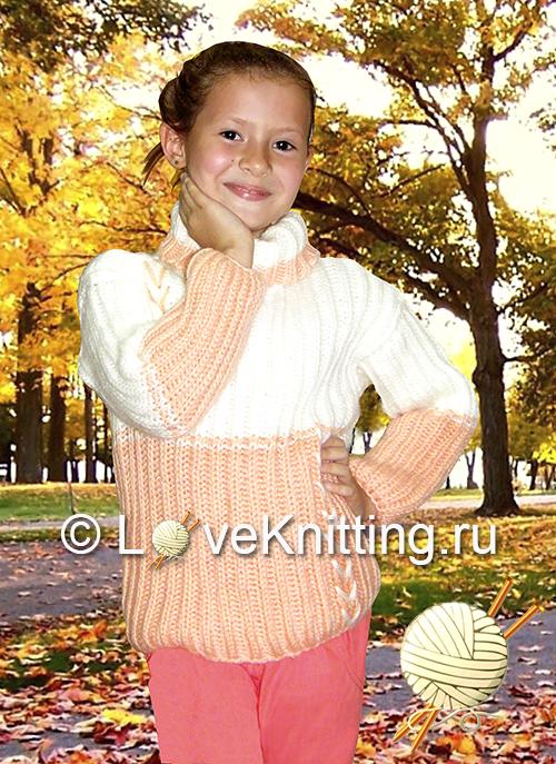 14 Автор Двуцветный пуловер МТ2 (500x687, 478Kb)