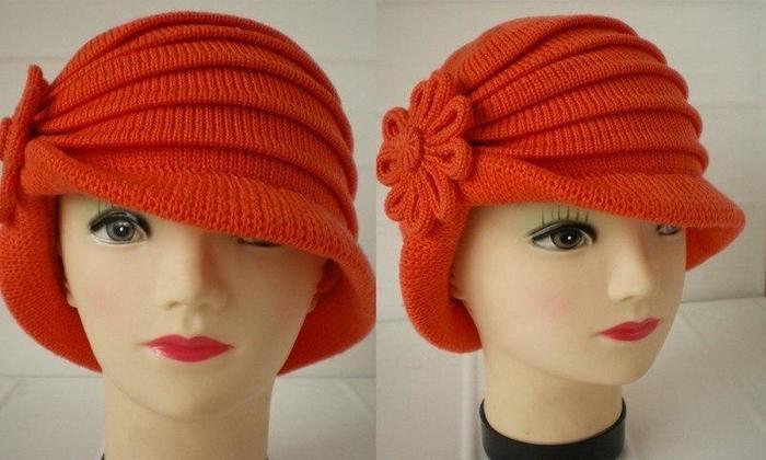 Женская шляпка красивая вязание