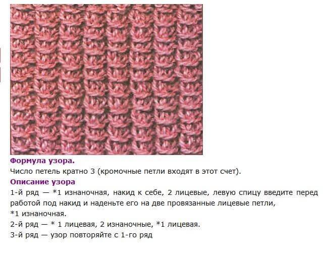 вязание узора плетенка на круговых спицах
