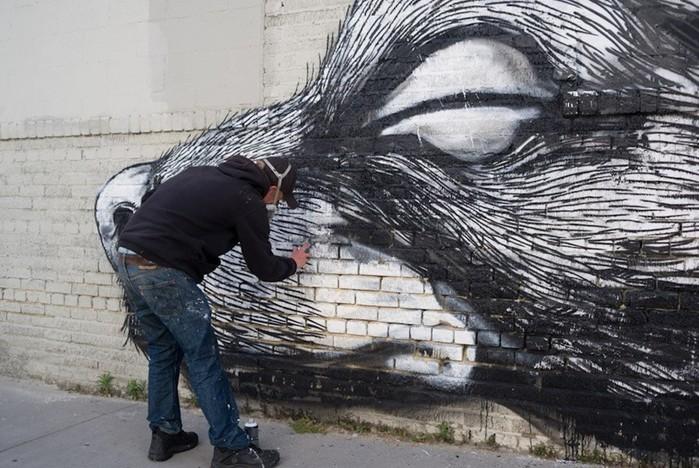 Граффити талантливого уличного художника из Бельгии