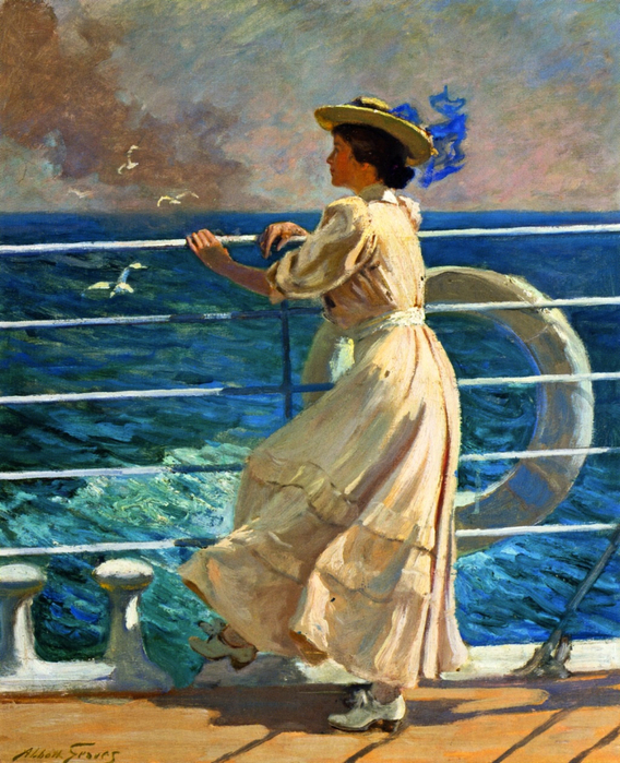 Abbott Fuller Graves On the Deck (568x700, 539Kb)