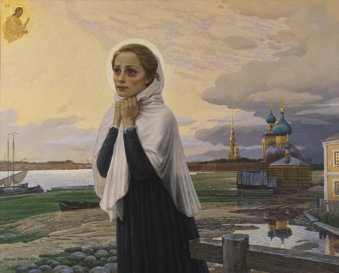 Простев Александр  Ксения Петербургская. Надежда после грозы. (700x563, 252Kb)