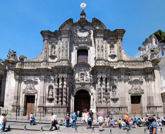 Церковь Общества Иисуса  кито эквадор 2 (700x568, 478Kb)