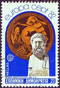 depositphotos_11647111-GREECE---CIRCA-1982-A-stamp-printed-in-Greece-from-the-Europa-issue-shows-a-bust-of-Miltiades-and-shield-Battle-of-Marathon-circa-1982. (232x338, 62Kb)
