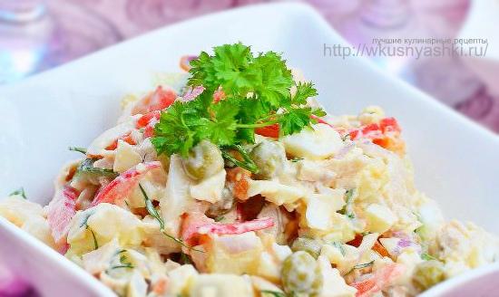 Kurinyiy-salat-s-goroshkom-i-pomidorami (550x328, 203Kb)