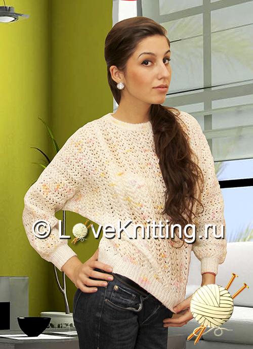 01 Автор Меланж пуловер 1 МТ2 (500x690, 342Kb)
