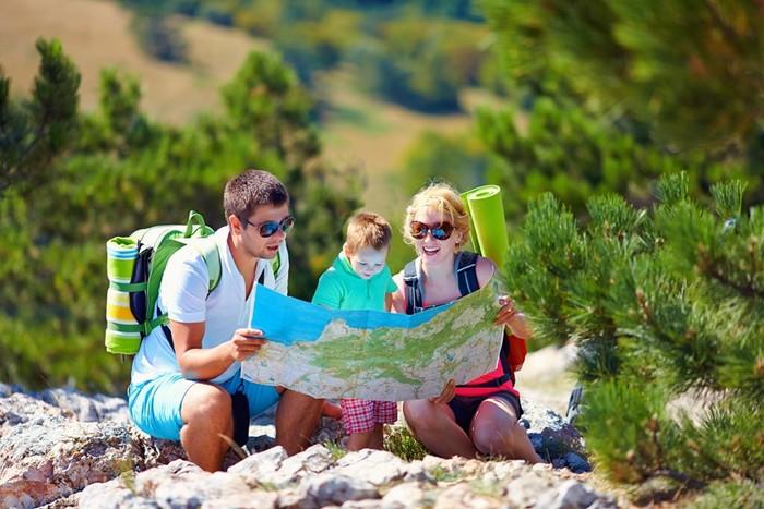 Игры с детьми в горах