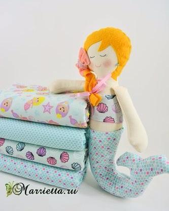 Русалка. Выкройка текстильной куклы (3) (333x416, 100Kb)