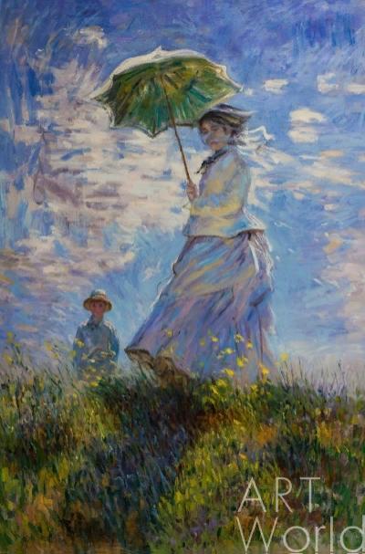 """Копия картины Клода Моне """"Дама с зонтиком"""", 1875 г. (худ. Савелия Камского)"""
