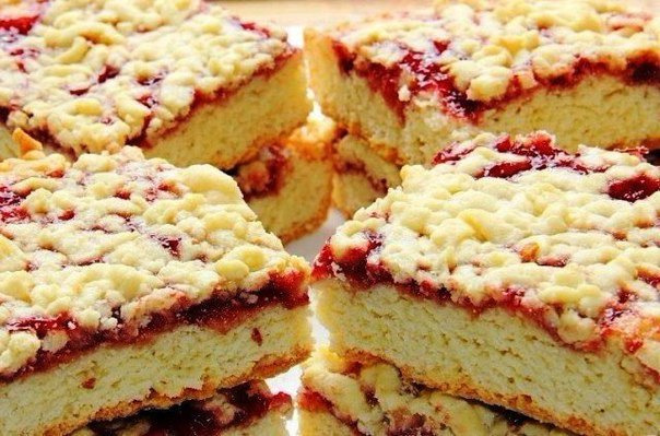 Рецепт пирога с вареньем без маргарина