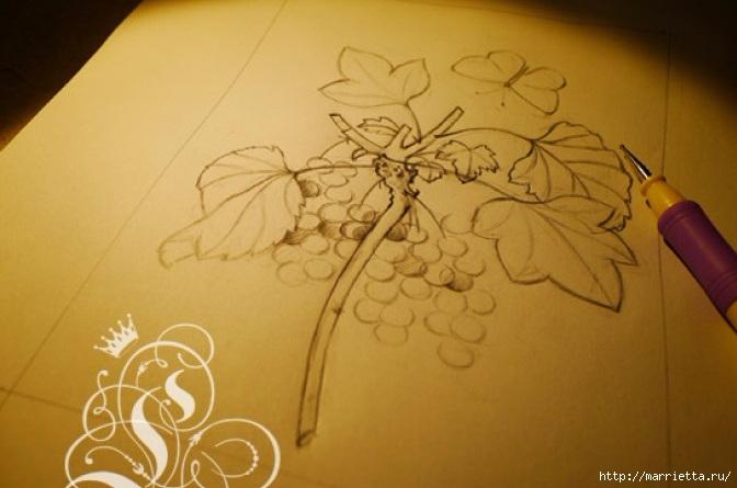 Цветы объемной вышивкой гладью. Красивые работы (17) (672x445, 145Kb)