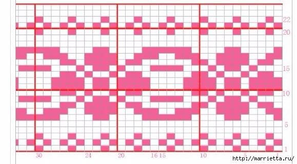 Платье спицами с жаккардовой каймой (17) (579x321, 128Kb)