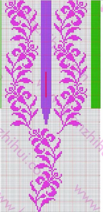 Платье спицами с жаккардовой каймой (19) (342x700, 374Kb)