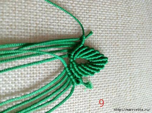 Плетение красивых листиков в технике макраме (17) (500x370, 124Kb)