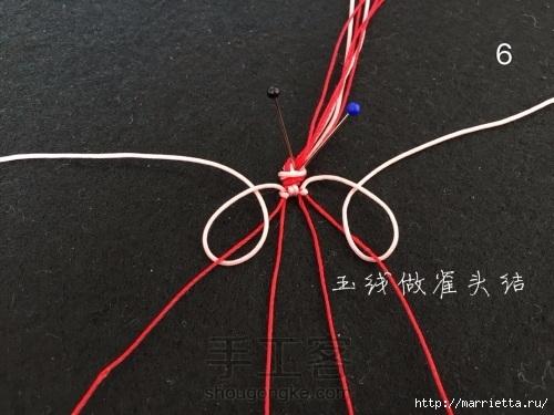 Плетение браслетика с цветочками в технике макраме (6) (500x375, 127Kb)
