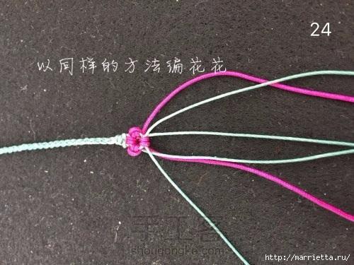 Плетение браслетика с цветочками в технике макраме (24) (500x375, 127Kb)
