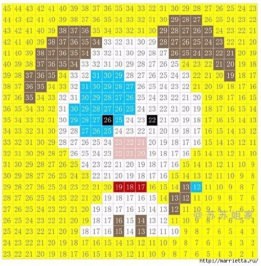 Детский плед крючком из мотивов со зверюшками (17) (534x544, 307Kb)