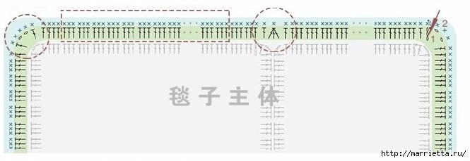 Детский плед крючком из мотивов со зверюшками (21) (665x229, 80Kb)