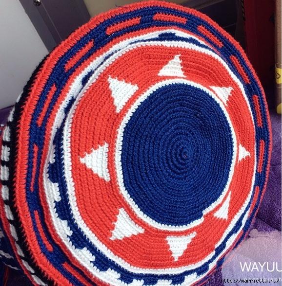 Схемы вязания зимней сумки - колумбийской мочилы (4) (578x588, 369Kb)