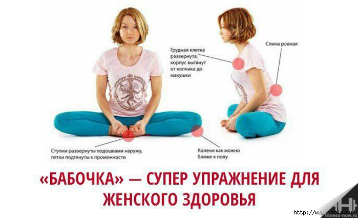 "alt=""Польза упражнения «Бабочка» для женского здоровья""/2835299_Polza_yprajneniya_Babochka_dlya_jenskogo_zdorovya1 (700x426, 138Kb)"