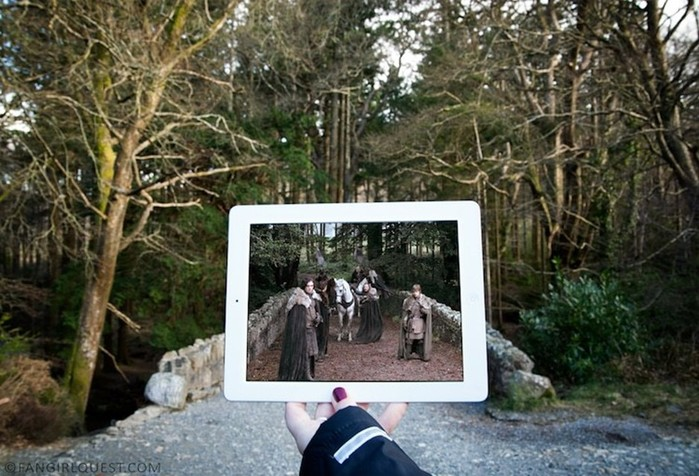 Кадры из телесериала «Игра престолов», вписанные в оригинальный ландшафт