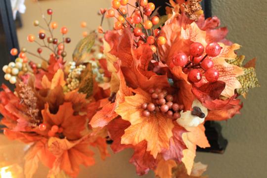 Букеты из осенних листьев своими руками фото подробное описание