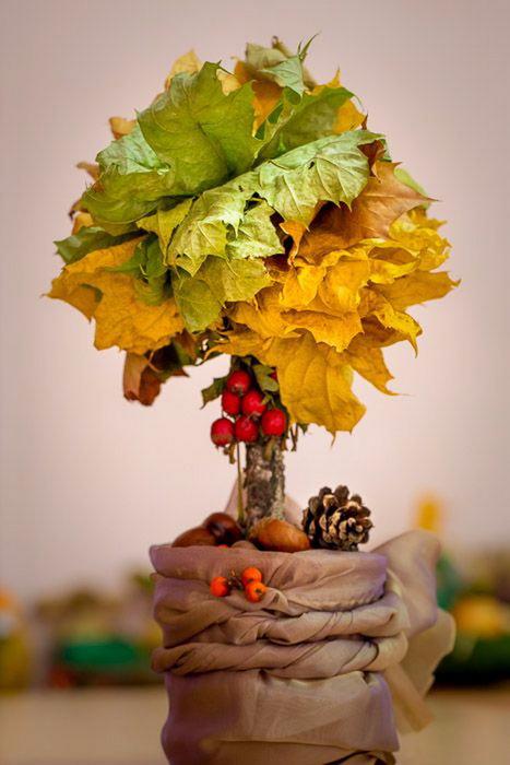 Поделки на тему осень из цветов и листьев
