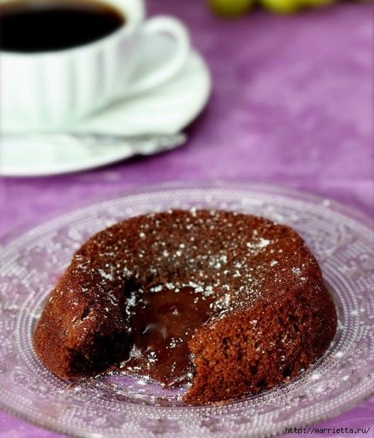 Горячее шоколадное пирожное с жидкой начинкой (1) (529x620, 216Kb)