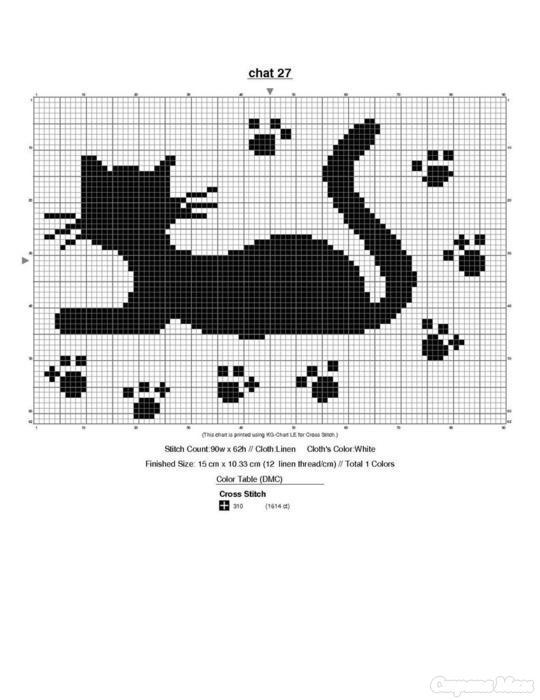 Схема кошки вязания спицами