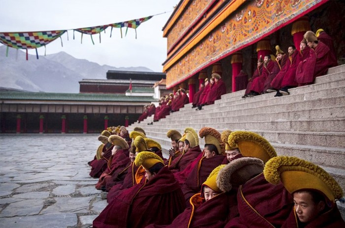 Великий молитвенный фестиваль Монлам в Тибете