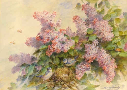 1385217299-lilacs-and-birds (500x354, 179Kb)
