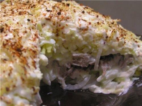 Мужской каприз салат рецепт с с курицей копченой и