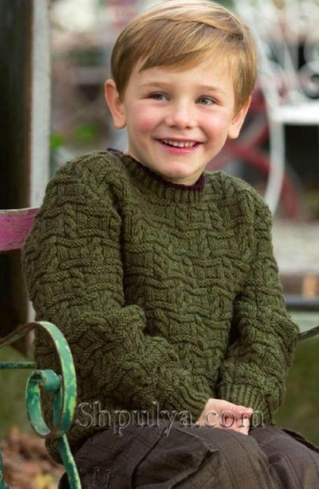 Пуловер для мальчика с фантазийным узором, детский пуловер спицами описание схема, пуловер для мальчика 4-8 лет связать, вязание для детей с описанием, вязание для мальчиков, пуловер для мальчика спицами описание схема, свитер для мальчика спицами, пуловер с косами спицами, пряжа для вязания спицами, купить пряжу, сайт о вязании спицами, Шпуля сайт о вязании, /5557795_00 (456x700, 213Kb)