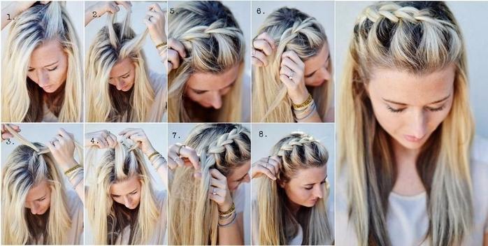 Прически на длинные волосы своими руками для мамы