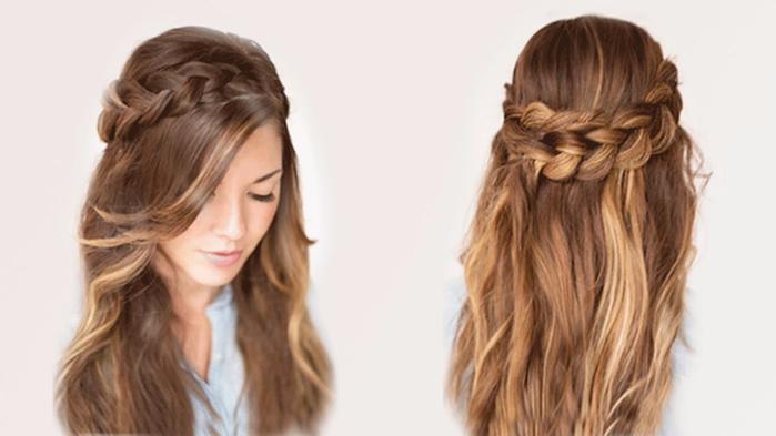 Прическа в школу для подростков на длинные волосы