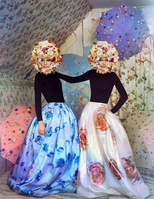 Girls&Flowers — фотосессия «Девушки и цветы»