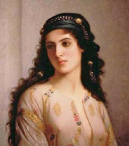Charles Zacherie Landelle (French artist, 1812-1908) Jewish Woman from Tangers (428x485, 143Kb)