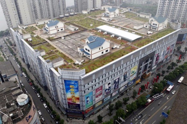11. 4 виллы на крыше торгового центра, Чжучжоу, Китай (620x412, 250Kb)