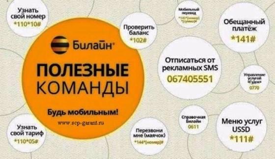 Полезные команды для операторов Мегафон, МТС, Билайн и Теле2
