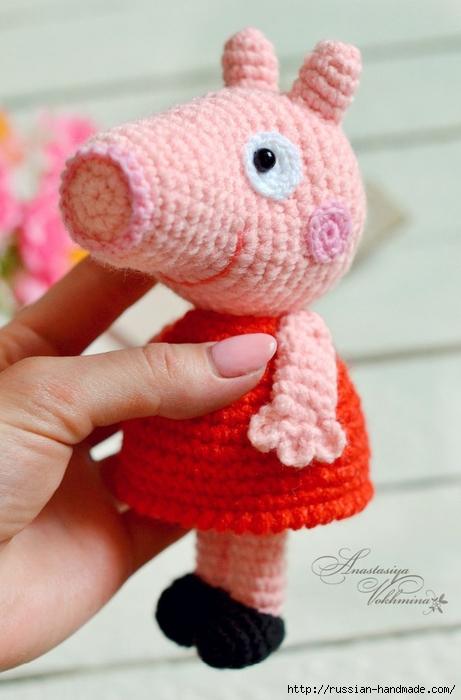 Вязание крючком маленькой свинки ПЕППИ (1) (461x700, 201Kb)